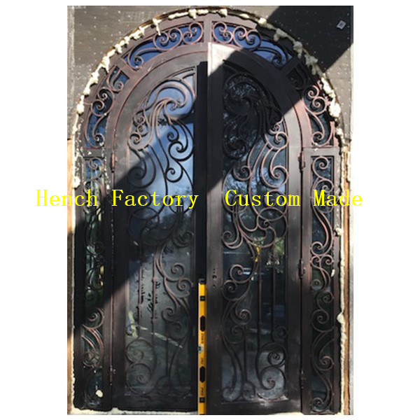 Shanghai Hench Brand China Factory 100% Custom Made Sale Australia Iron Door With Mosquito Net