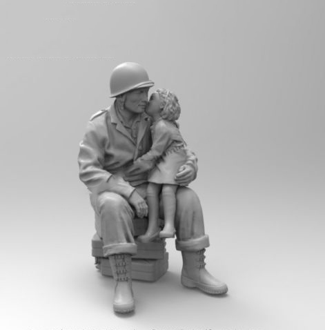 1/35  US Uncolor Girl On His Knees WARRIOR Resin Model Miniature  Figure Unassembly Unpainted