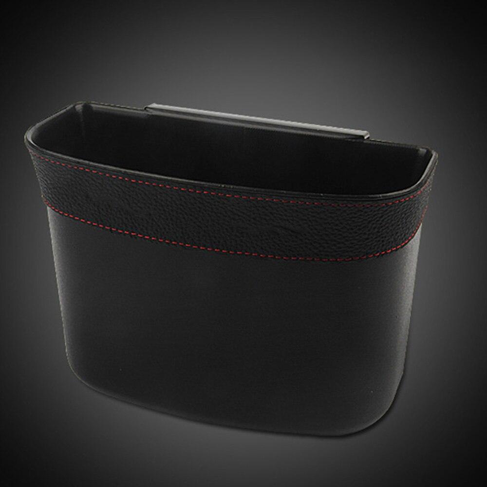 lowest price Black Car Trash Can 17 14 7cm Car Garbage Storage Bag Car Accessories Car Door Trash Bin Trash With Clip Car Storage Boxes