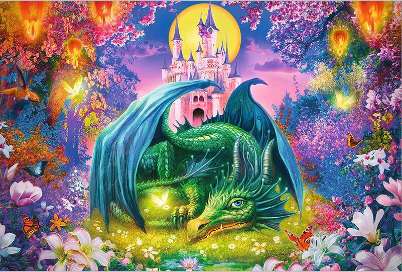 Dragon de jardin le puzzle en bois 1000 pièces ersion puzzle carte blanche adulte jouets éducatifs pour enfants