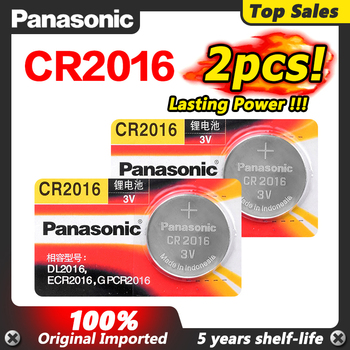 Panasonic Top Quality Lithium Battery 2PCS/LOT 3V cr 2016 DL2016 ECR2016 cr2016 Button Battery Watch Coin Batteries For Toys image