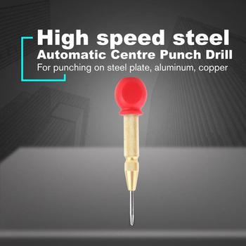 Automatic Center Punch Spring Loaded Marking Hole Carbon Gold Body Color Optional Color/Silver Steel T9P0