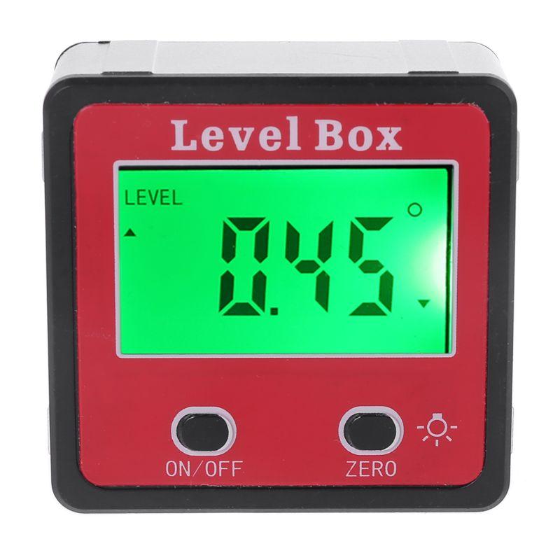 Inclinómetro de nivel de burbuja Digital, transportador, medidor de ángulo, medidor de nivel biselado con imán Relojes deportivos para exteriores SYNOKE, relojes de pulsera digitales para correr y escalar para hombres, reloj militar resistente a la alarma de impacto resistente al agua