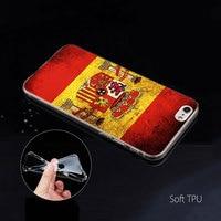case iphone 5 Spain Spanish Flag Case for Apple iphone 11 Pro X XS Max XR 7 8 6 6S Plus 7S 5 S SE 5C Soft TPU Coque Phone Carcasa Cover (5)