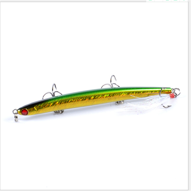 1pcs/ Winter fishing lifelike pencil Swim hard bait 11.7cm/11g Artificial 3D eyes crank lure laser rotation Jig Wobbler bait 4