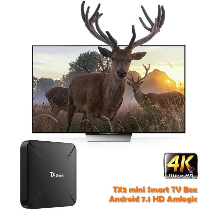 Tanix mini caixa de tv s905w, núcleo quad core 1 + 8gb/2 + 16, tanix tx3, android 7.1 caixa de tv inteligente gb hdmi 2.0, com controle remoto