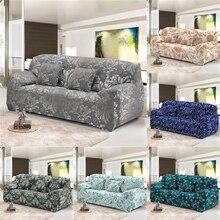 Homesky Vintage flor elástico sofá cubierta seccional 1/2/3/4 plazas Slipcovers para sala de estar Spandex sofá funda para sillón