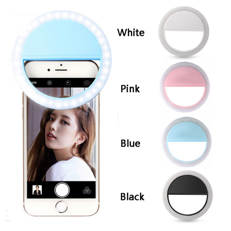 Telefoon Selfie Ring Lamp Led Auto Flash 36 Leds Draagbare Mini Camera Telefoon Achtergrondverlichting Photo Light Voor Iphone Samsung Tablet title=