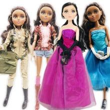 MGAdoll muñecas niña princesa con ojos marrones, 3D, grande, violeta, 36cm, 11 articulaciones, muñeca de princesa juguete, regalo de Navidad