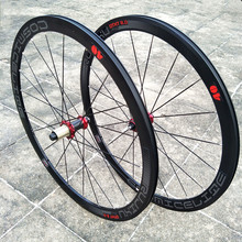 Racefiets Wielen Carbon Buis Hub 8 9 10 11 Speed V Brake Road Racing Wheel Set 700C 40Mm Velgen Fiets Wielset