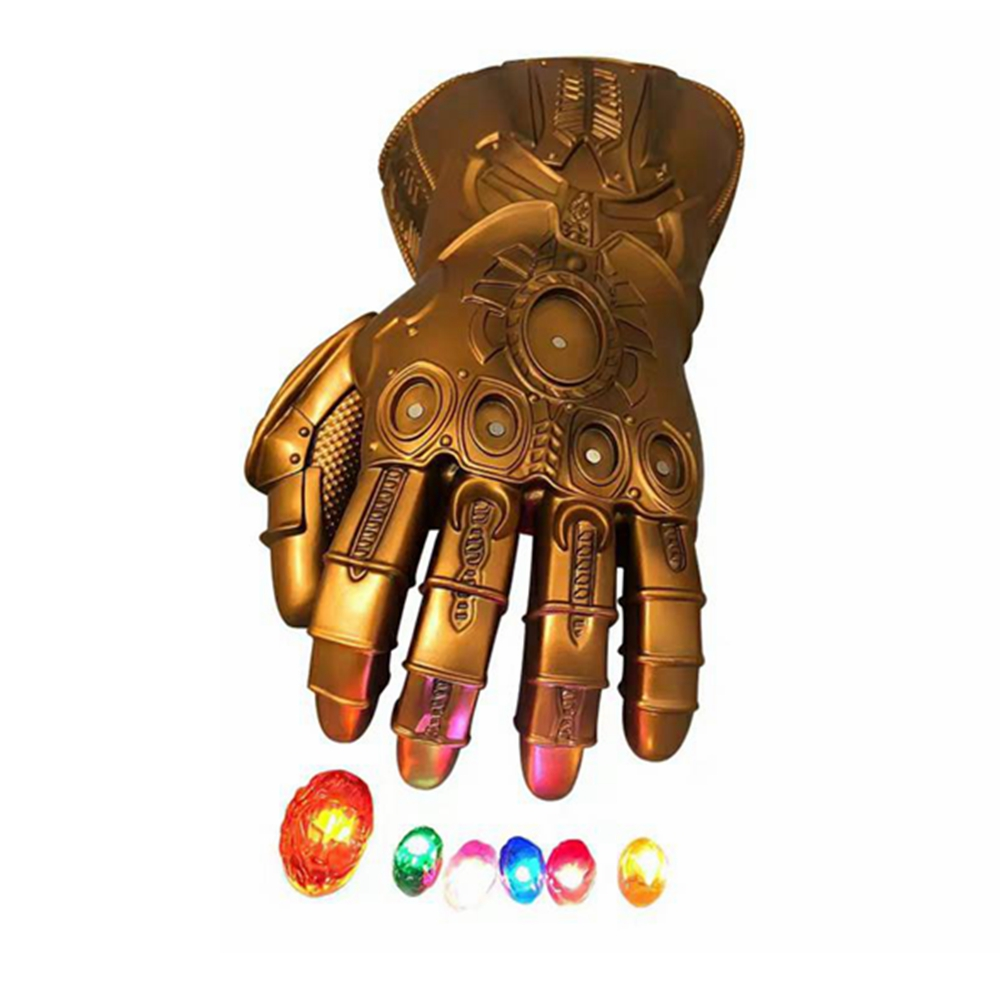 Thanos Gloves Led Infinity Gauntlet Cosplay Infinity Stone War Mask LED Gloves Carnival Party Props New Year Gift For Adult Kids