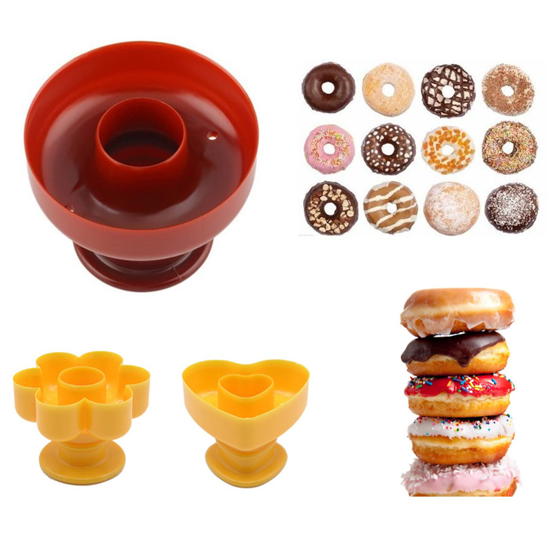 1 шт. инструмент «сделай сам», форма для изготовления пончиков из пищевого пластика, резак для приготовления пончиков, украшение для помадки...