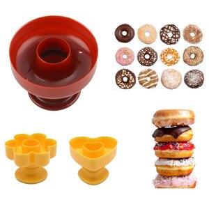 1 PC DIY Tool Donuts Maker Mold Food Grade Plastic Doughnuts Maker Cutter Fondant Decor Cake Bread Desserts Bakery Mould