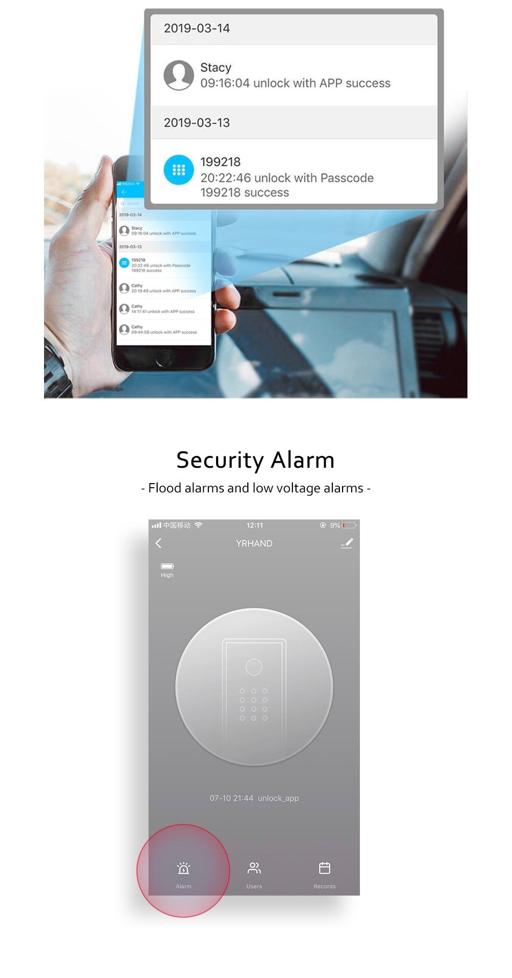 H241ccd29c249493aa02e3d4a13ca7358f WIFI Smart Fingerprint Door Lock Code Card Key Touch Screen Digital Password Lock Electronic Door Lock with Tuya Smart APP