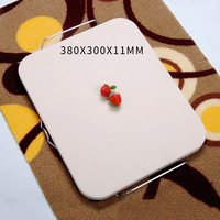 15'' Pizza Stone Board with Steel Handle Square Dish High Temperature Resistance Ceramic Plate Pizza Baking Pan Pizza Stone Tray