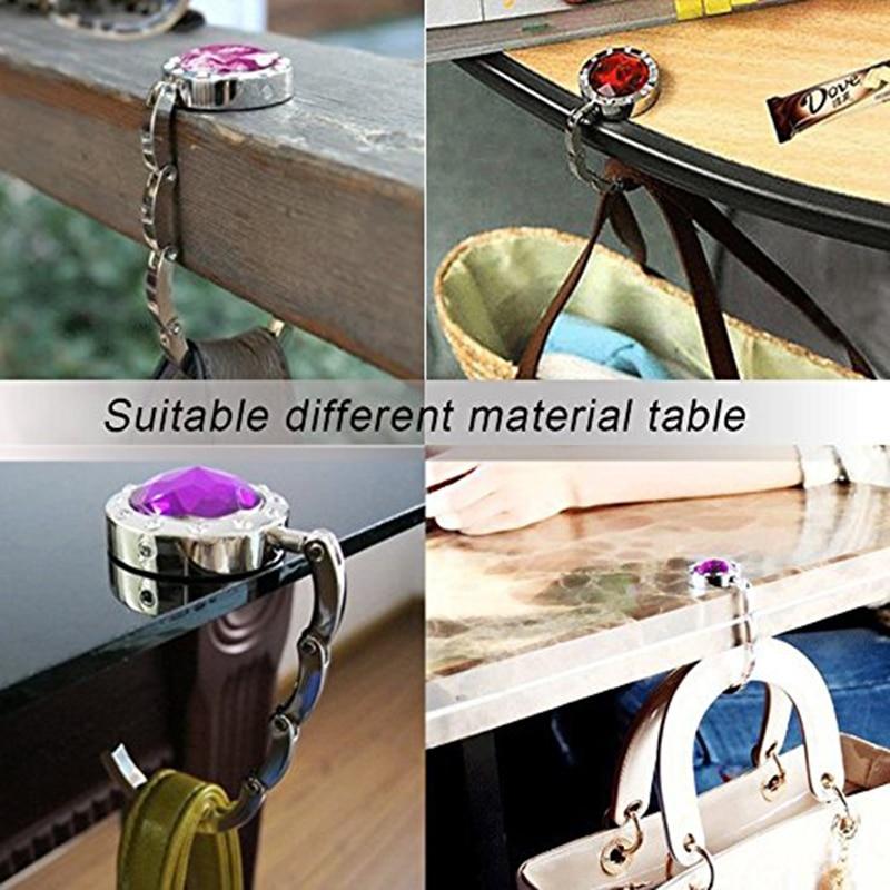 Hong Kong Clock Tower Table Hook Folding Bag Desk Hanger Foldable Holder