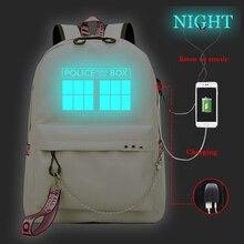 Backpack Female Mochila-Doctor Teenager Laptop Bag Travel Usb-Charging Knapsack Women
