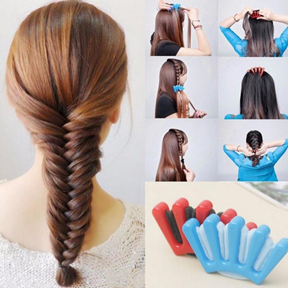 1 шт., очаровательные заколки для волос во французском стиле, для женщин и девочек, сделай сам, губка для волос, заплетать волосы в косу, инстр...