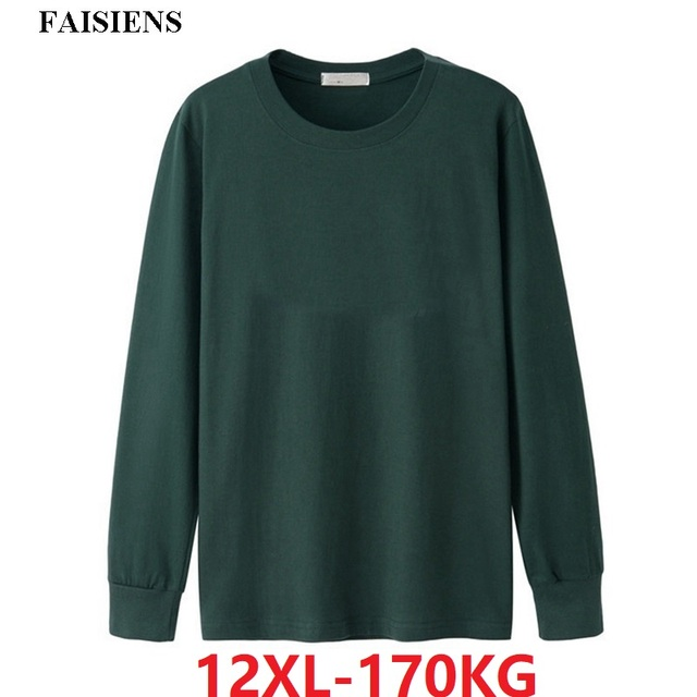 autumn winter Men women T-Shirts Long Sleeve Large Size 7XL 8XL 9XL 10XL 12XL oversize tees underwear Cotton Home Loose Tops red