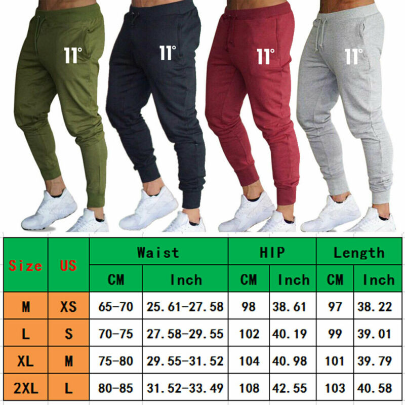 Hot sale solid casual Mens Casual Slim Fit Tracksuit Sports Solid Male Gym Cotton Skinny Joggers Sweat Casual Pants Trousers 6