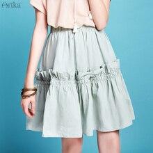 ARTKA 2020 Spring Summer New Women Skirt Elegant Ruffles A-line Skirt
