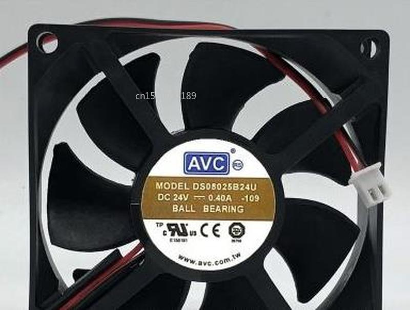 For AVC DS08025B24U-109 24V 0.40A 8025 8cm Double Ball 2 Wire Inverter Fan Free Shipping