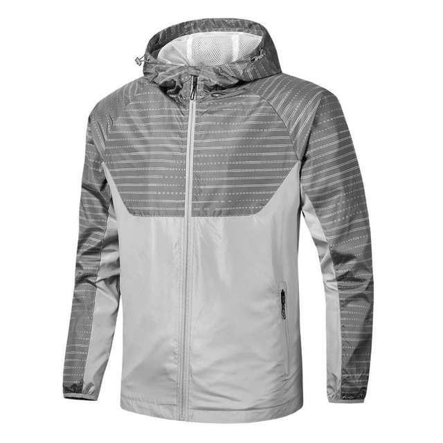 New Style In Stock High Quality Fashion Spring Autumn Running SportWear Jacket Thin Hooded Windbreaker Outdoor Jacket For Men 2