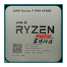 Amd ryzen 7 pro 4750g r7 pro 4750g 3.6 ghz oito-núcleo dezesseis-thread 65w processador cpu l3 = 8m 100-000000145 soquete am4