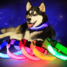 Pet Dog LED Collar For Cat Night Safety Anti-lost Light Up Flashing USB Collars Dogs Luminous Necklace Supplies Accessories