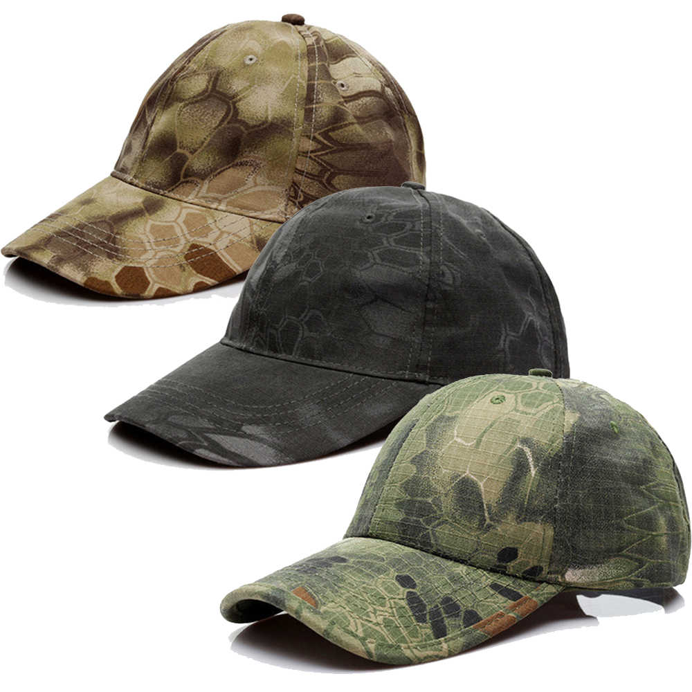 2019 New Men Cap Hunting Camouflage High Quality Outdoor Tactical Military Army Camo Hat Adjustable Hunting Cap Hat Baseball Hat
