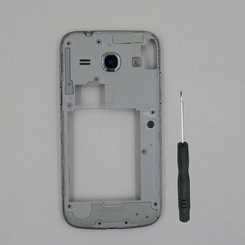 For <font><b>Samsung</b></font> Galaxy Core Plus G350 <font><b>G350E</b></font> New Phone Housing Center Frame Chassis <font><b>Cover</b></font> With Camera Glass Lens + Tool image