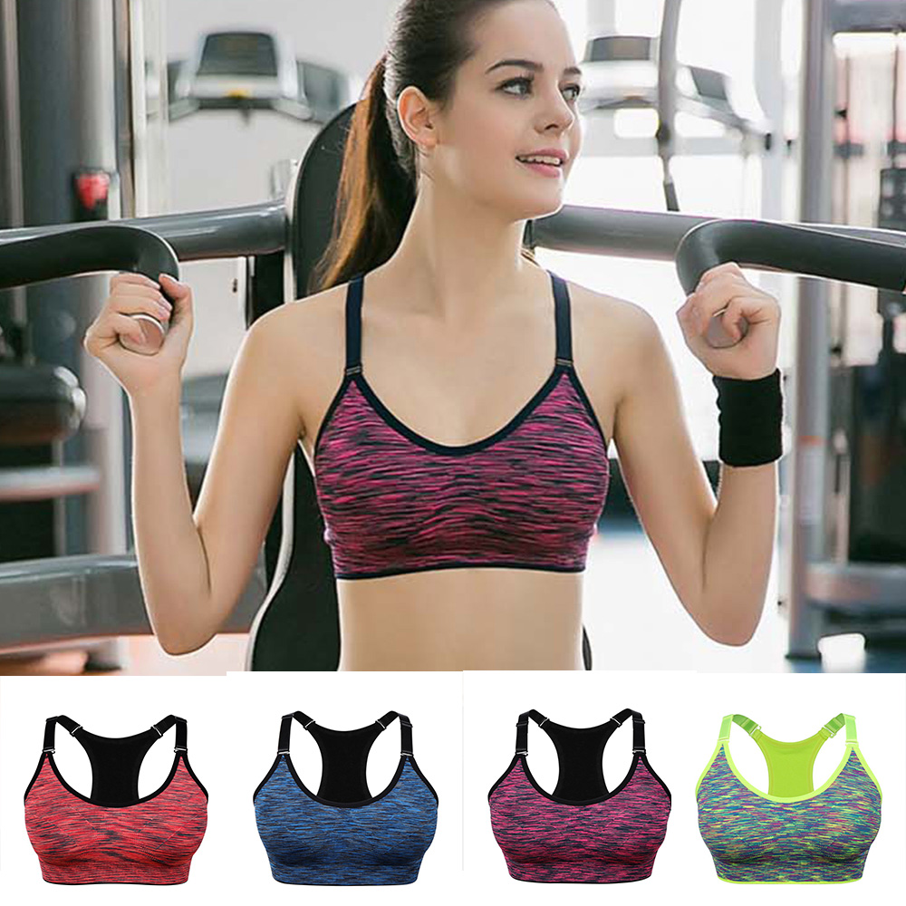 Woman Sports Bra Wirefree Adjustable Tube Tops Fitness Backcross Push Up Seamless Running And Jogging Bra