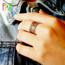 F.J4Z 925 Sterling Silver New Retro Stylish Female Finger Rings Hot Trending Top Quality Pretty Ring Jewelry For Women Gift