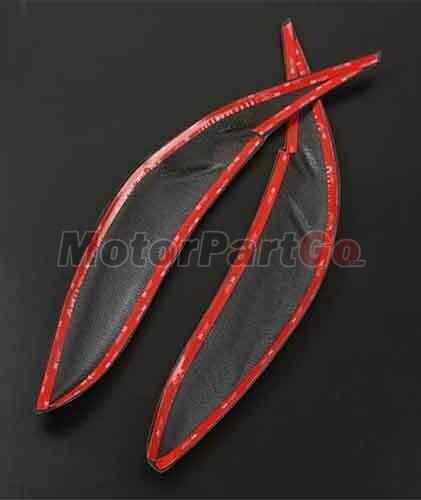 Real Crabon Fiber Head light Eyelid Eyebrow Cover Trim 1pair for  Toyota Sienna LE SE 11-17 T235 3