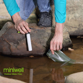 Survival Outdoor Camping & Hiking Portable Water Purification with bag Filtered Water On The Go 5