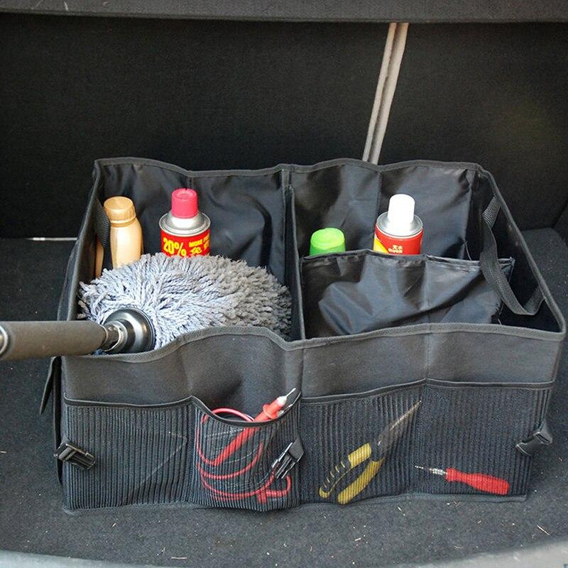 1PC Foldable Car Auto Back Rear Trunk Seat Big Storage Bag Pocket Organizer  R2LC