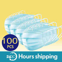 50/100 шт одноразовые медицинские маски со ртом для лица унисекс защитная маска дышащая Пылезащитная противотуманная защита для здоровья