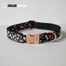 Nylon flower design personalized soft dog collar leash with bow tie traction rope pet straps Christmas decorations
