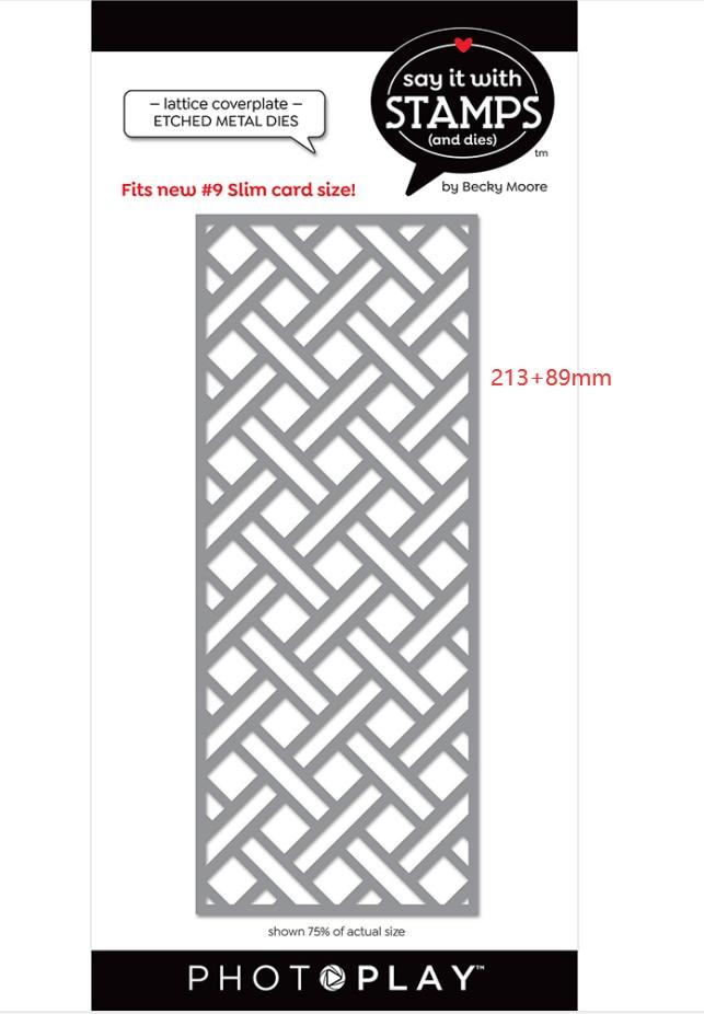 Metal cut die lattice coverplate mold card Scrapbook paper craft knife mould blade punch stencils