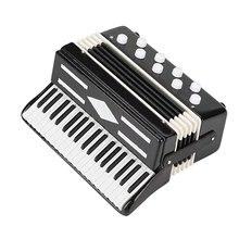 Миниатюрный аккордеон мини музыкальный инструмент изысканные