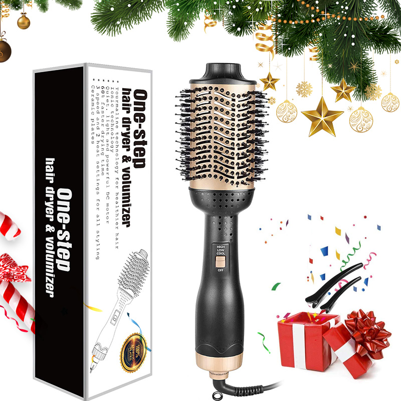Professional One Step Hair Dryer Brush Volumizer 2 In 1 Straightener And Curler Hot Air Curling Iron Smooth Frizz Rollers Comb