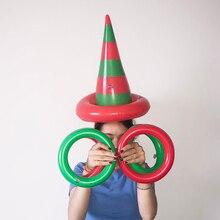 1 комплект ПВХ надувная шляпа ведьма игрушка семейные вечерние Веселые бросок кольцо интерактивная игра Дети Образование шляпа кольцеброс Хэллоуин