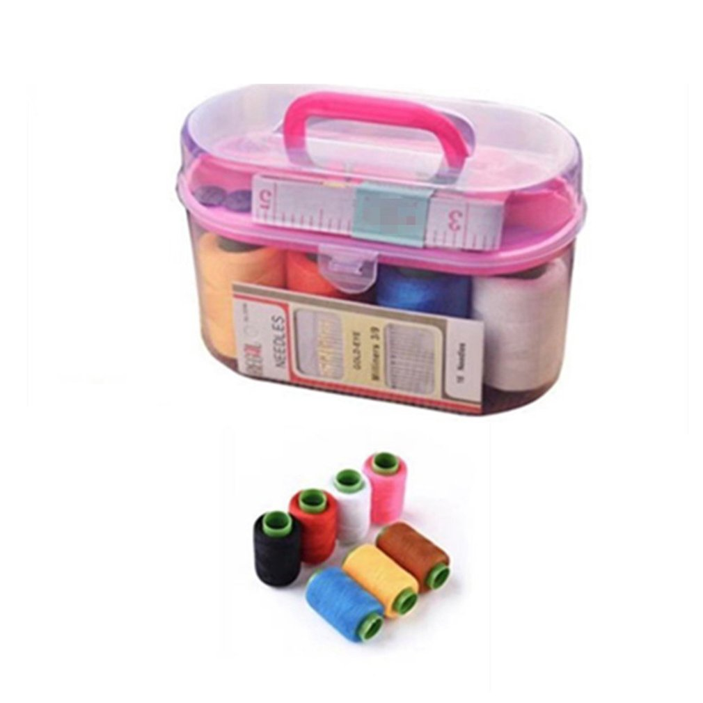 High-quality Gold Tail Needle Set 7-color Thread Roll Needlework Set Sewing Kit Treasure Box Large Sewing Box Set