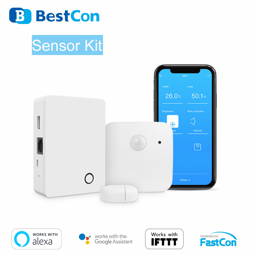 BROADLINK MSK1 BestCon SENSOR Gateway Security Kit System 433Mhz Door Sensor Wireless SMART Home Automation Elderly Care