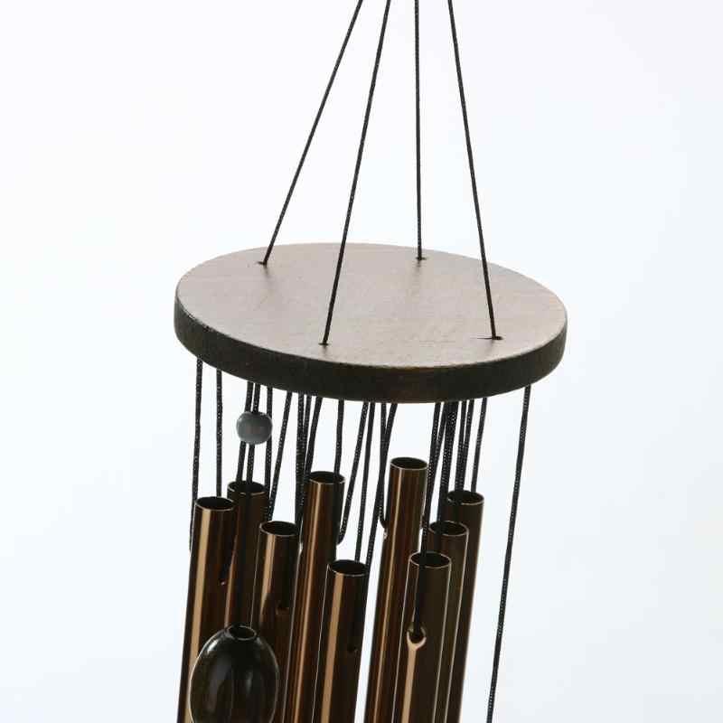 62 Centimetri Vento Carillon di Rame Antiruggine Carillon Bella Vita All'aperto Yard Garden Decorazioni Regali di Compleanno per Gli Amici 9 Tubi Campane