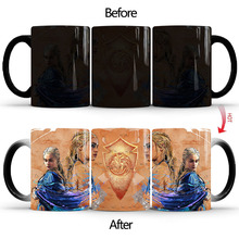 1Pcs New Game of Thrones Coffee Cup Magic Mug Hot Cold Color Changing 350mL Ceramic Mugs Creative Gifts