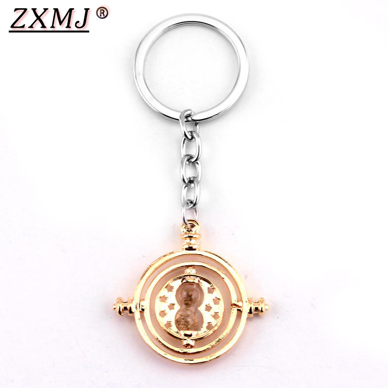 ZXMJ Harried Time Timer Hourglass Keychain Keyring Potters Astronomical Time Converter Magic School Key Ring Movie For Fans New