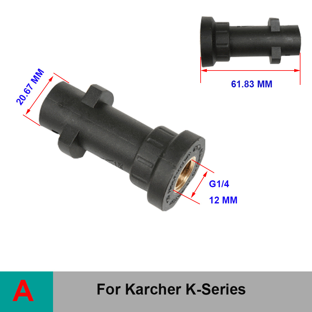 OPRQ High Pressure Washer Adapter Nozzles For Karcher K Series HD Car Washing Foam Lance Nozzle Connector in Water Gun Snow Foam Lance from Automobiles Motorcycles