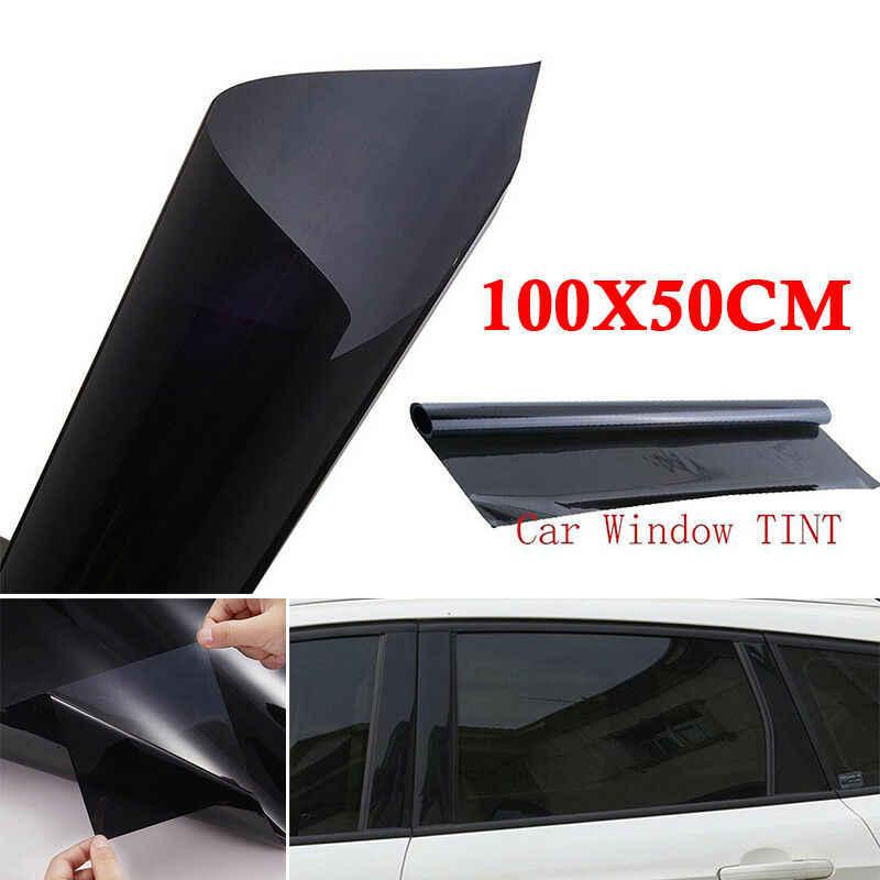 Naklejka + skrobak samochód strona główna folia zaciemniająca okna 5% VLT czarny film naklejka foliowa anty UV