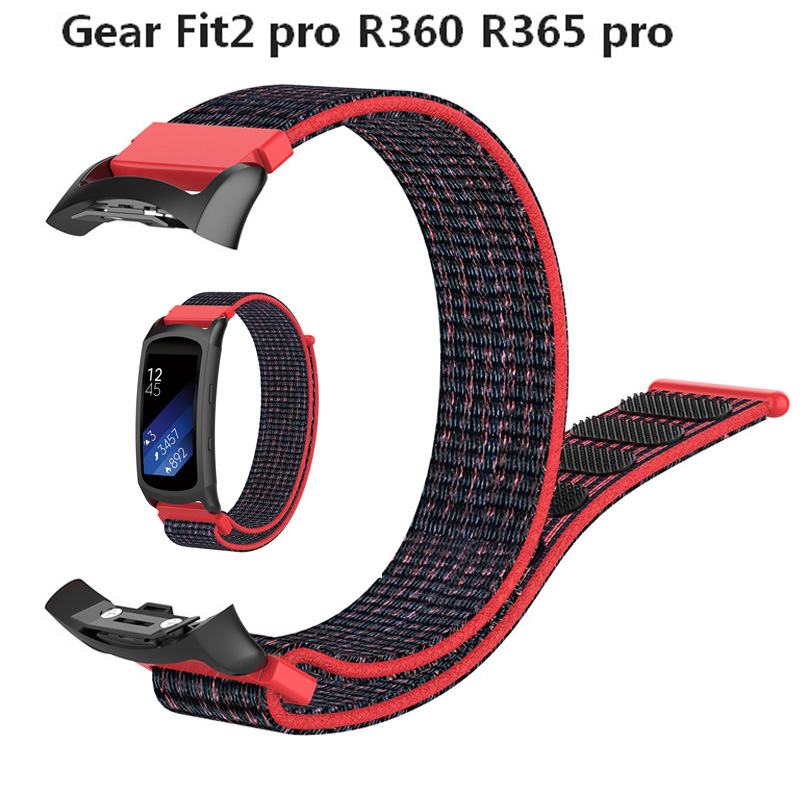 Nylon Sport Watch Band For Samsung Gear Fit2 Pro Fitness Watch Bands Wrist Strap For Samsung Gear Fit 2 SM-R360 Bracelet